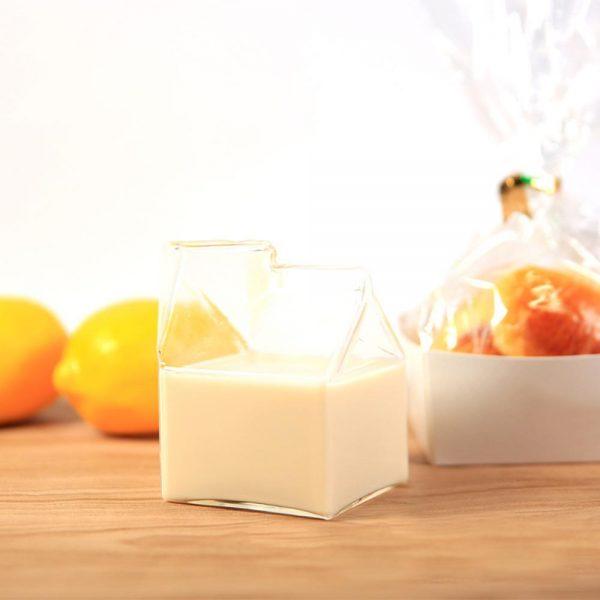 Glass Milk Cup