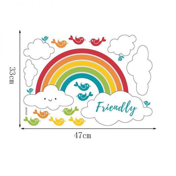 DIY Rainbow Wall Sticker